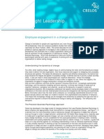 Employee Engagement in a Change Environment White Paper Crelos