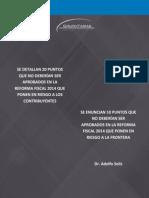30 Puntos Graves de La Reforma Fiscal AEF Dr Solis Adolfo