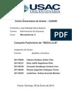 CAMPAÑA PUBLICITARIA DE RECICLAJE