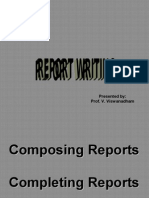 Report Writing -