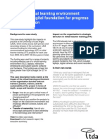 Using a Virtual Learning Environment (VLE) as a Digital Foundation for Progress and Innovation