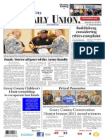 The Daily Union. January 25, 2014
