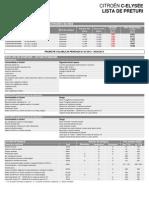 Citroen C-Elysee Lista de Preturi 07 2013