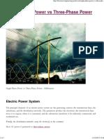 Single-Phase Power vs Three-Phase Power EEP