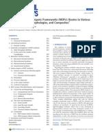 Synthesis of Metal Organic Frameworks