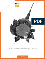 QS Asis University Ranking 2012