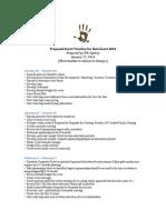 Sample Event Planning Timeline