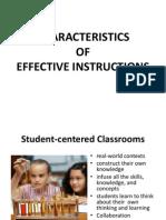 Characteristics of Effective Instructions