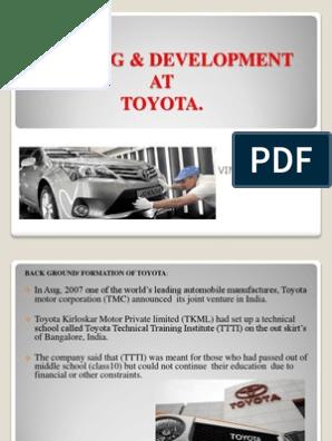 T & D (TOYOTA) | Facilitator | Evaluation