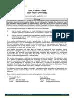 Unit Trust Application Form