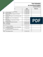 Test Schedule A1