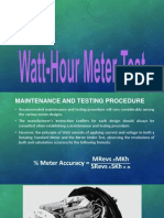 Watt-Hour Meter Test