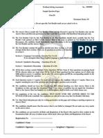 PSA Sample Questionfor Class-IX - 2014