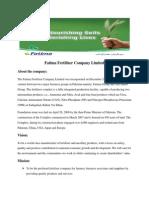 Fatima Fertilizer Company Limited ipo