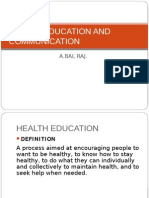 Health Education and Communication