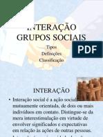 SOCIOLOGIA - INTERAÇÃO E GRUPOS SOCIAIS