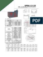 upsa 12-033-1 UPS battery datasheet