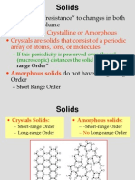 7 Crystal Structure and Classification of Solids