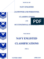 Manual of Navy Enlisted Manpower and Personnel Classifications and Occupational Standards, Vol 2 (NECs)
