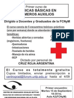 Curso Cruz Roja FCNyM