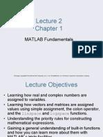 Lecture 1 - MATLAB Fundamentals