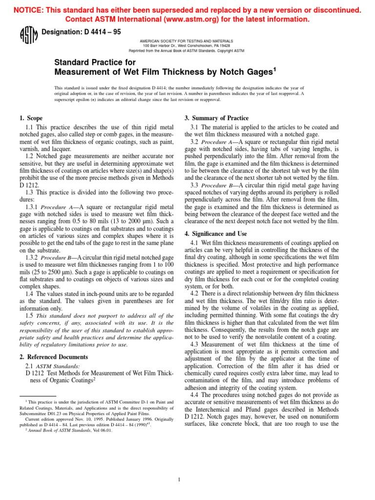 ASTM D4414 PDF