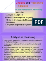552Judgment, Choices and Reasoning Fallacies