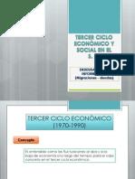TERCER CICLO ECONÒMICO Y SOCIAL EN EL