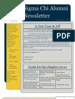 Sigma Chi (Delta Psi Chapter) September Newsletter