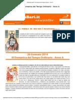 26 Gennaio 2014 - III Domenica Del Tempo Ordinario - Anno A