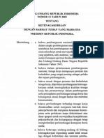 UU No. 13 2003 Tentang Ketenagakerjaan