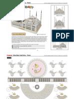 Sultan Ahmet Camii - Paper 3D Model PDF (1)
