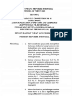 UU No. 21 2003 Tentang Pengesahan ILO Convention No. 81