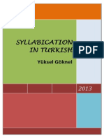 SYLLABICATION IN TURKISH Yüksel Göknel-signed