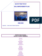 School Improvement Plan 2008-2009