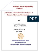 Strategic Flexibility for an Engineering Institute