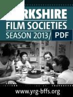 Yorkshire Film Societies Booklet 2013-2014
