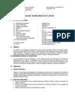 Syllabus Mecanica de Fluidos 2013-I