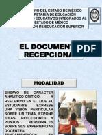 El Documento Recepcional