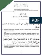 Rotib Kubro Arab Latin Dan Terjemahan