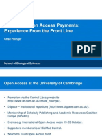 Managing OA payments