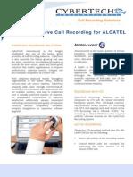 PDF CYBERTECH CyberTech ALCATEL CTI for Active Passive Recording