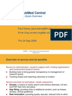 UK PubMed Central Overview (Paul Davey and Ernie Ong, British Library)