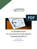 La voluntad de azorín y la renovación de la novela española a principios del siglo XX