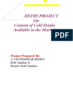 chemistry investigatory project on analysis of colddrinks
