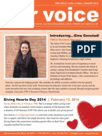 Our Voice, January 2014