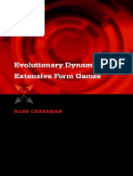 Evolutionary Dynamics and Extensive Form Games - Ross Cressman