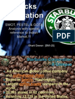 PESTEL, SWOT & GOTA Anaysis Of Starbucks!