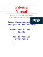 ( Espiritismo) - # - Mauro Operti - Inconvenientes E Perigos Da Mediunidade