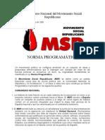 III Congreso Nacional Del Movimiento Social Republicano